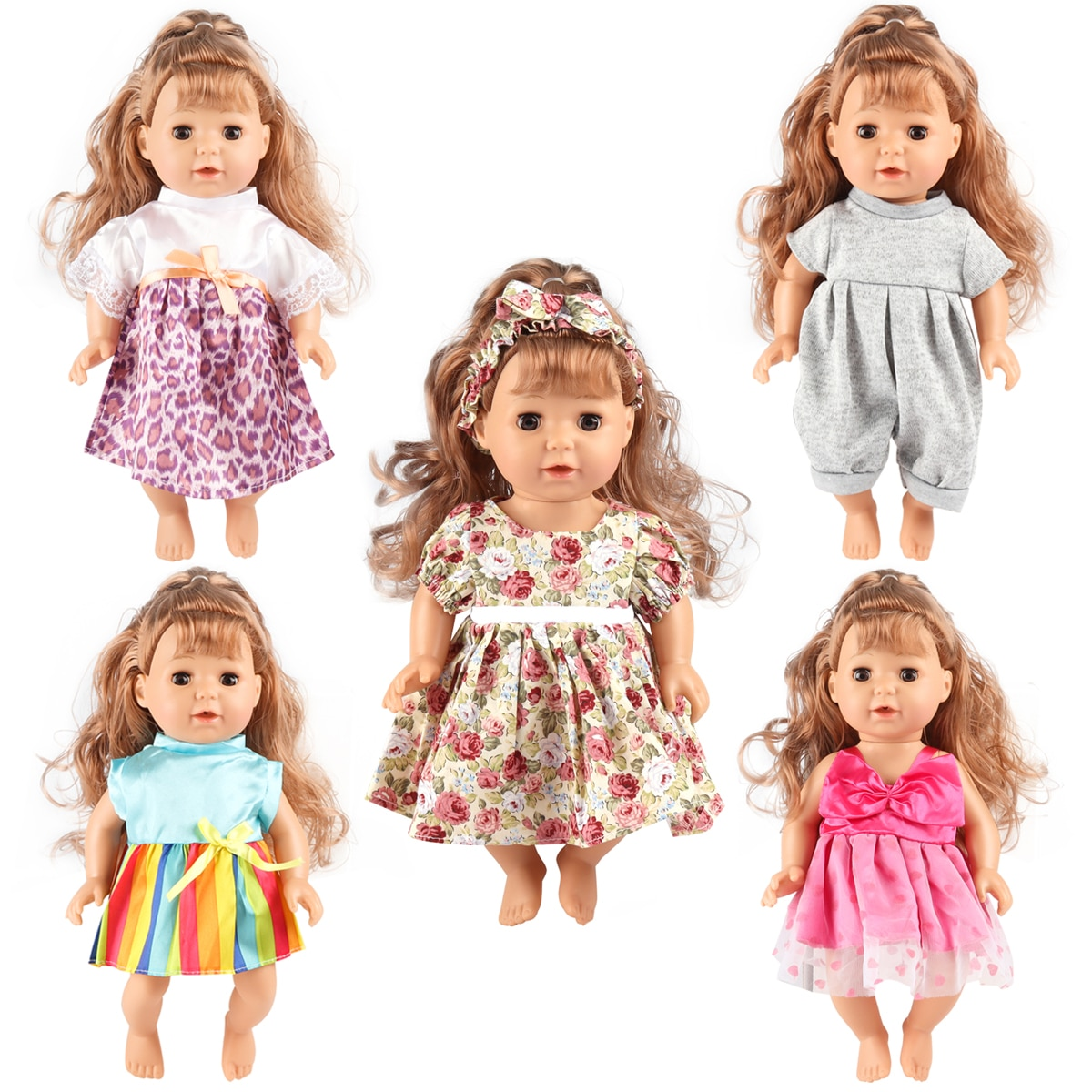Doll Clothes For 13-14-15 Inch Baby Born Doll Clothing, Baby Doll Clothes Dress Oufit Handmade Girl
