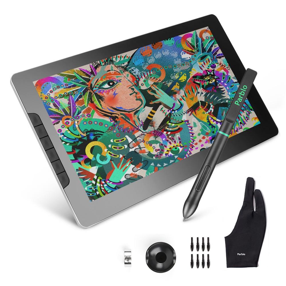 Parblo Mast 13 1920*1080 Monitor de dibujo 13,3 IPS LCD pantalla pluma Resolución de visualización para trabajos gráficos y Artes Digitales