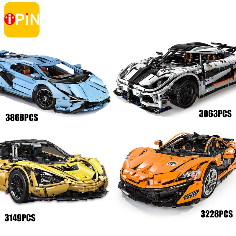 Mould King Moc High-Tech Car Series App Rc Super Racing Building Blocks Model  Construction Bricks D