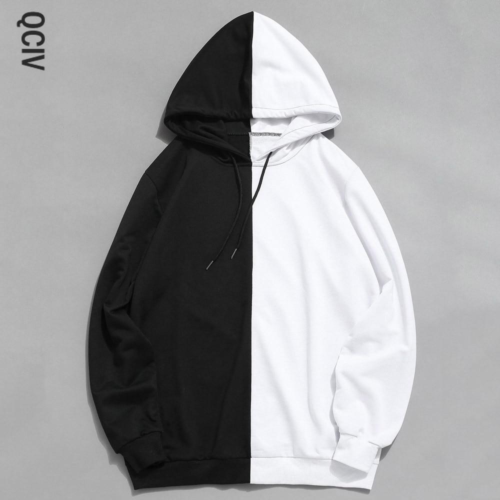 Mens Hoodies Hooded Sweatshirt Casual Patchwork long sleeve solid Slim Tracksuits Hoodie Mens Sweatshirt Outwear Sudadera Hombre