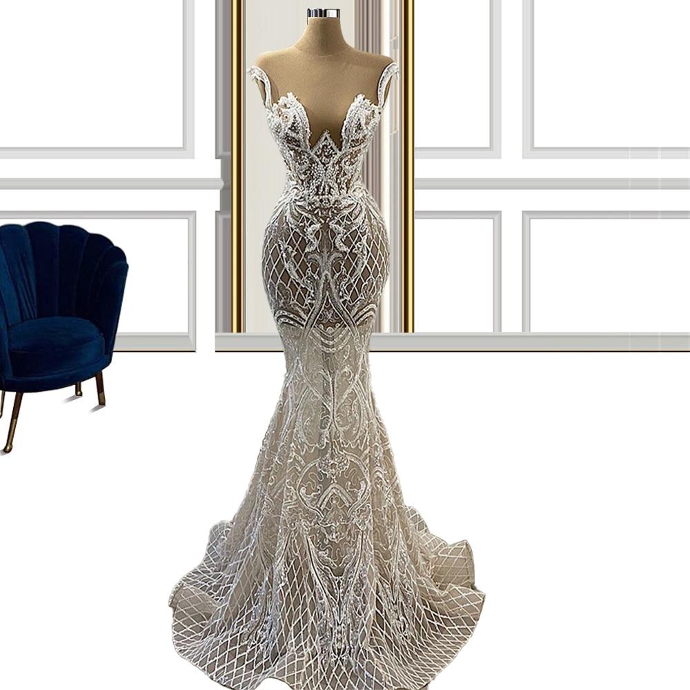 Encaje de sirena para boda civil, vestido de novia para boda Civil,...
