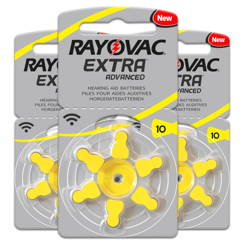 60 PCS RAYOVAC EXTRA Zinc Air Performance Hearing Aid Batteries A10 10A 10 PR70 Hearing Aid Battery