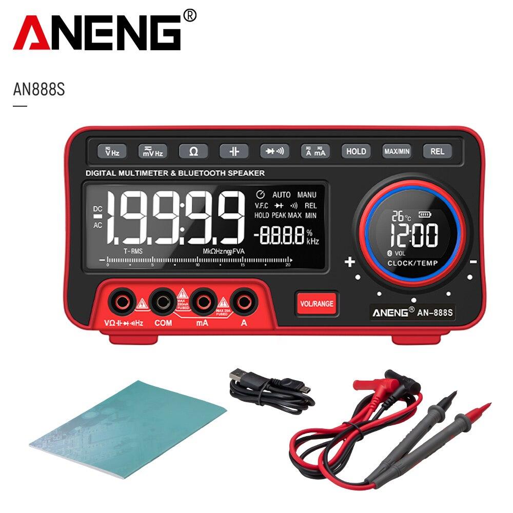 ANENG-multímetro Digital Profesional an88s, probador de transistores de 19999 recuentos, voltímetro de rango automático, calibrador multifunción