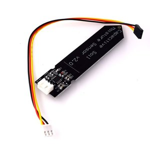 Hw-390 Capacitive Soil Moisture Sensor Not Easy To Corrode Wide Voltage Operation Wire Feeding Black