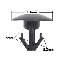 30x Auto Trim panel small sealing rivets 5mm hole nylon sealing strip nail retaining clips for Honda