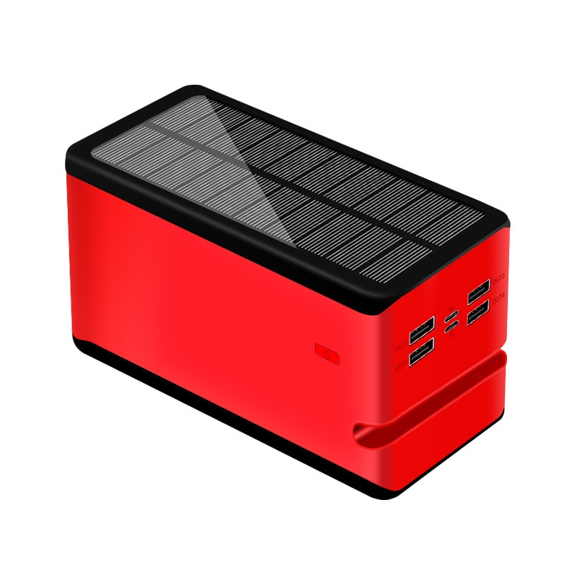 Camping Lamp Power Bank Large Capacity Solar 100000 Ma Mobile Power Supply with Bracket and Led Camping Lamp Solar Lantern enlarge