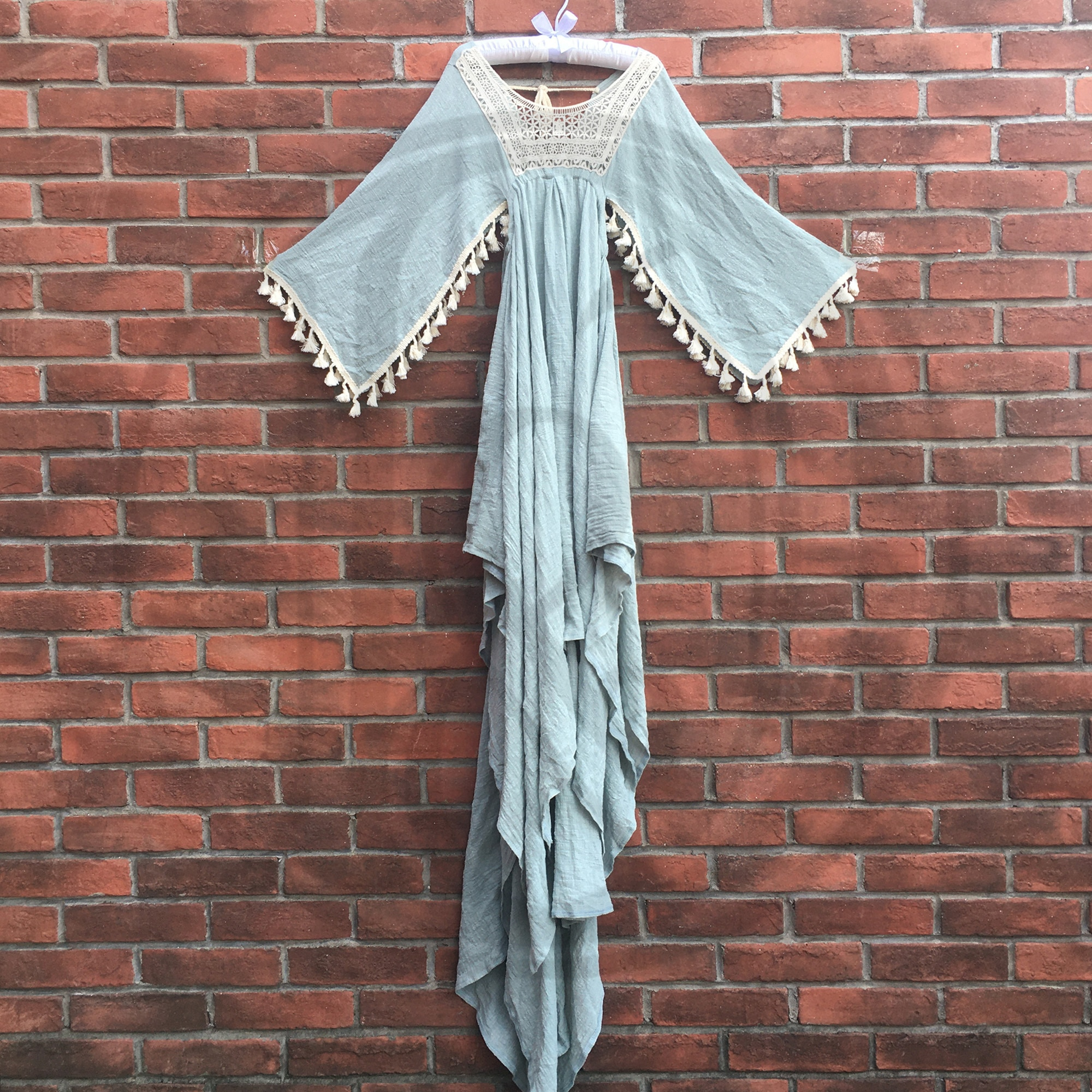 Photo Shoot Sprincess Vintage Embroidery Boho CottonLittle Girl Robe Kid Evening Party Dess for Children Photography Accessories