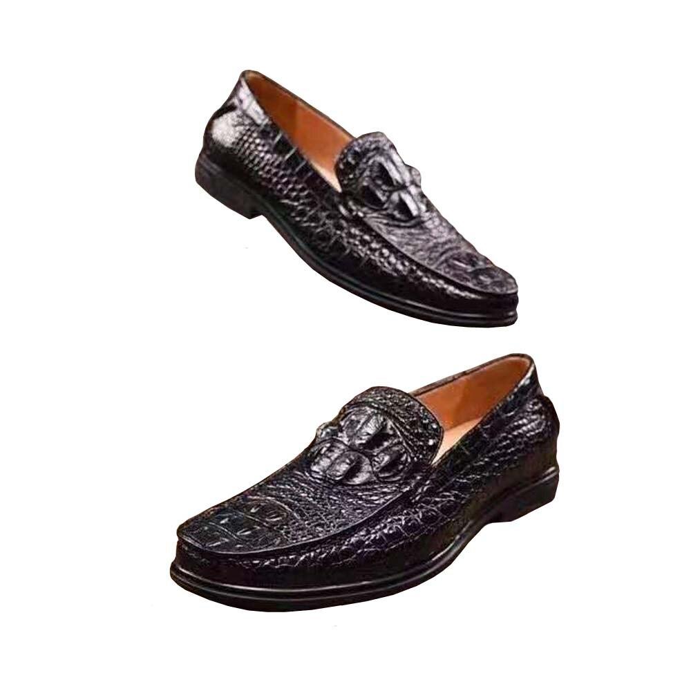 ourui new men shoes leisure crocodile skin shoes crocodile shoes Rubber soles Convenient  shoes Simple Shoes  Casual shoes male
