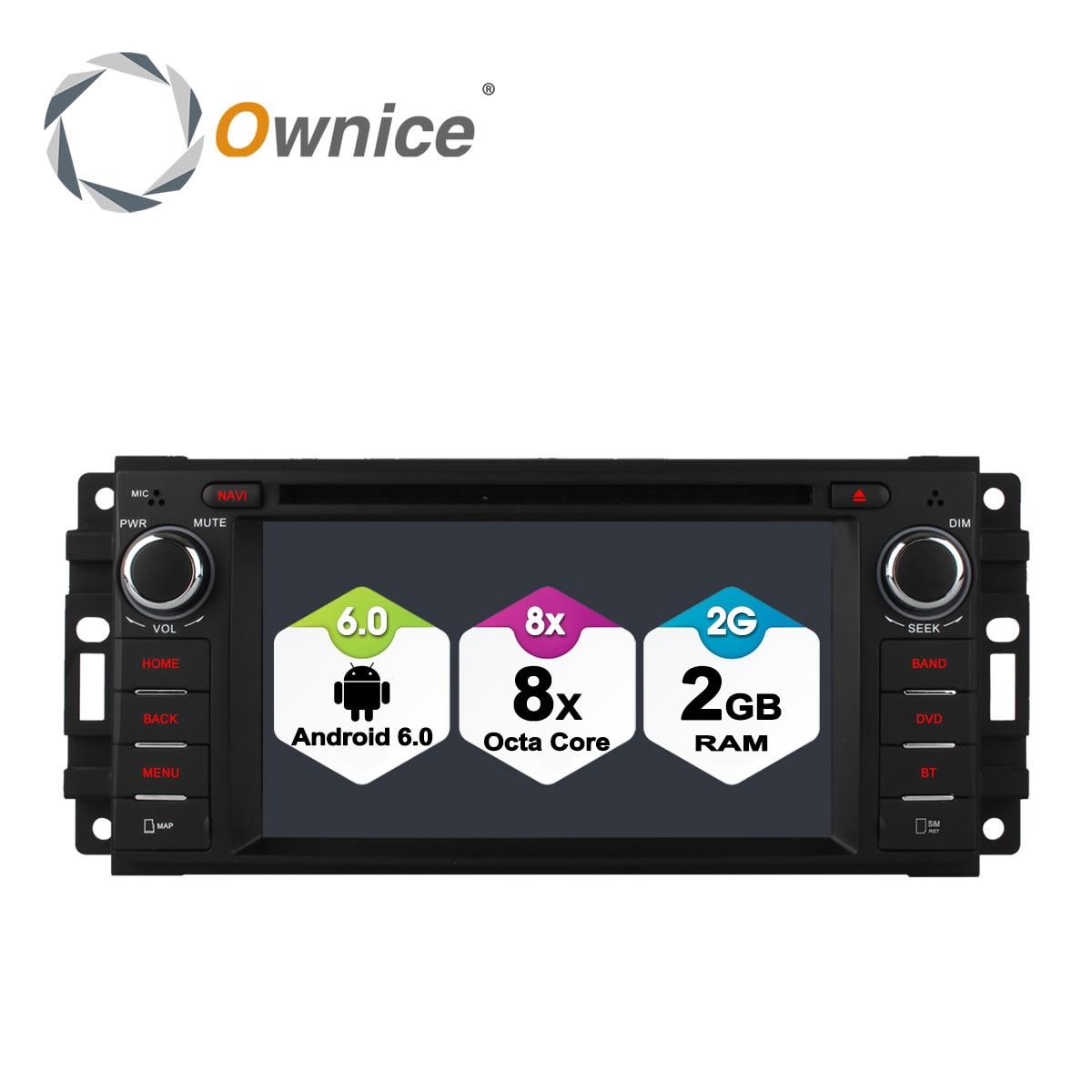 Ownice C500 Android 6,0 Octa 8 Core dvd del coche para Jeep Dodge Chrysler gps navi con radio BT 32G ROM soporte DAB + 4G LTE DVR