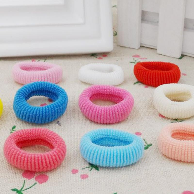 100 Pcs Professional Hair Styling Tools Girl High Elastic Hairbands Circle Ties Bands  Accessories