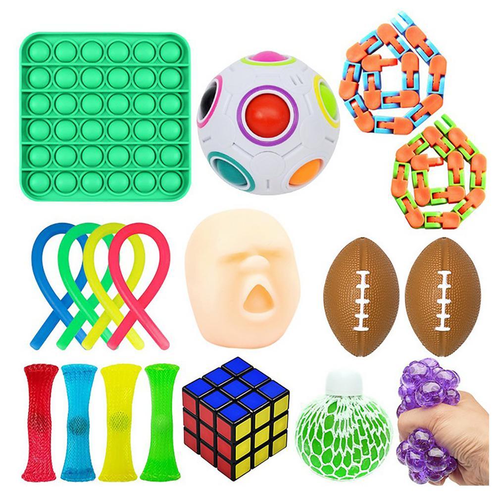 Fidget Sensory Toy Set Stress Relief Toys Pop Bubble Stress Relief Squeeze Sensory Toys For Kids Adults enlarge