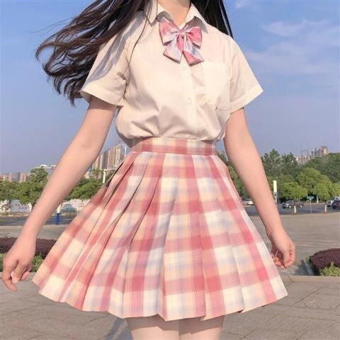 Japanese collection orthodox JK square skirt in student JK uniform suit gentle one knife sailor plea