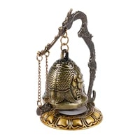 buddhism temple messing copper dragon bell clock cut statue lotus buddha buddhism arts statue clock home decorative ambients
