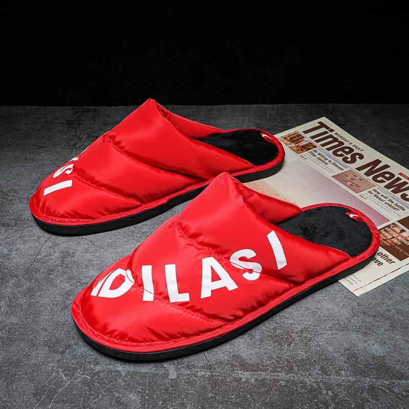 New Winter Quality Slip Women Home Slipper Shoes Warm Cotton Shoes Comfortable Down Cotton Men Slipp