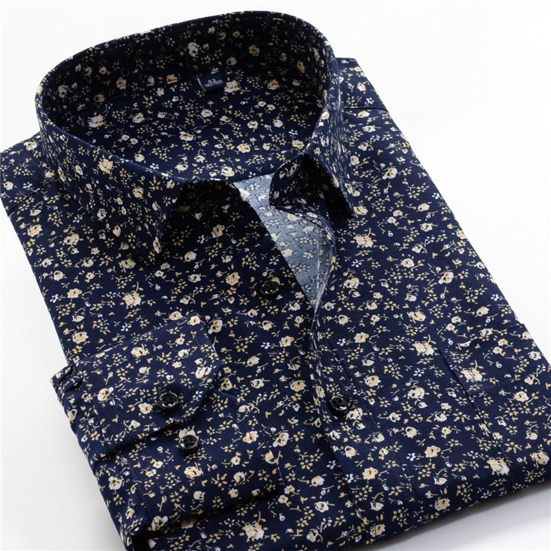 Men's Printed Shirt 2020 Autumn New Fashion Casual Loose Hawaii Long Sleeve Shirts Male Brand Plus Zise 5XL 6XL 7XL 8XL 9XL 10XL