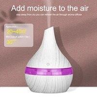Humidificateur dair electrique USB de 300ml  diffuseur dair aromatique  huile essentielle  bois  aromatherapie ultrasonique  machine a brume fraiche pour maison et voiture
