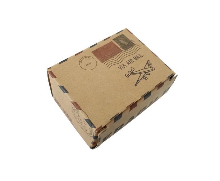 Vintage Air Mail avión diseño Kraft caja de regalo de papel rústico bolsa de regalo de boda caja de Favor para la decoración de la fiesta de la boda Baby Shower