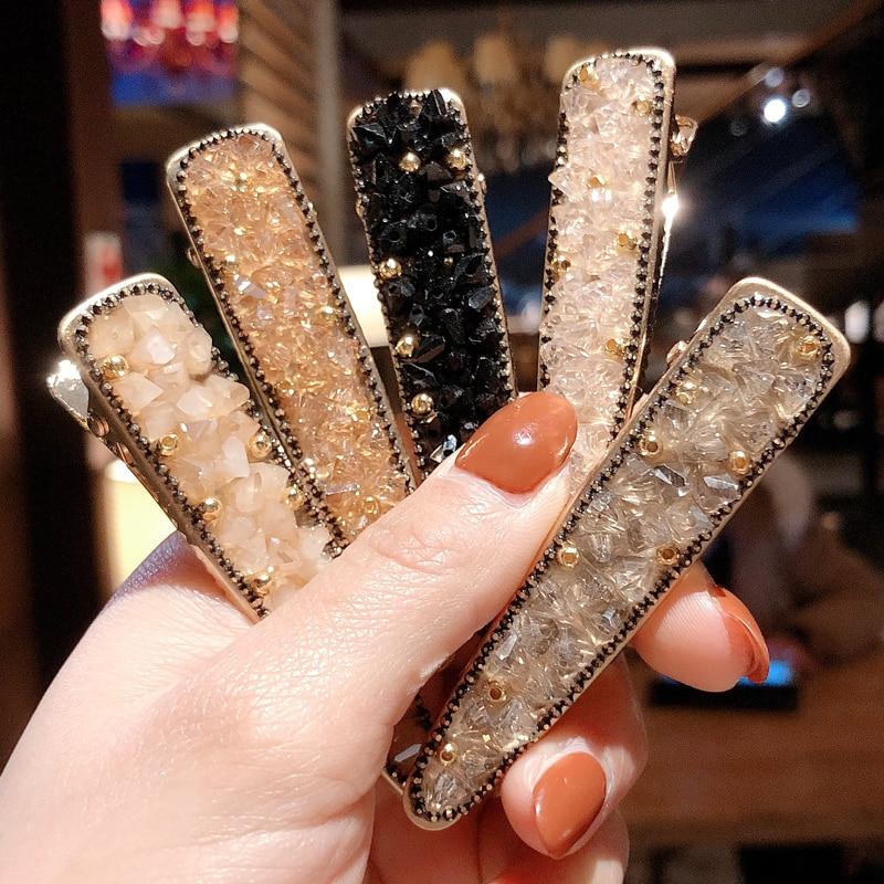 New Design Women Pearl Shining Hair Clip Fashion Hairpin Headwear for Women Slide Grips Barrette Hairpin Hair Accessories