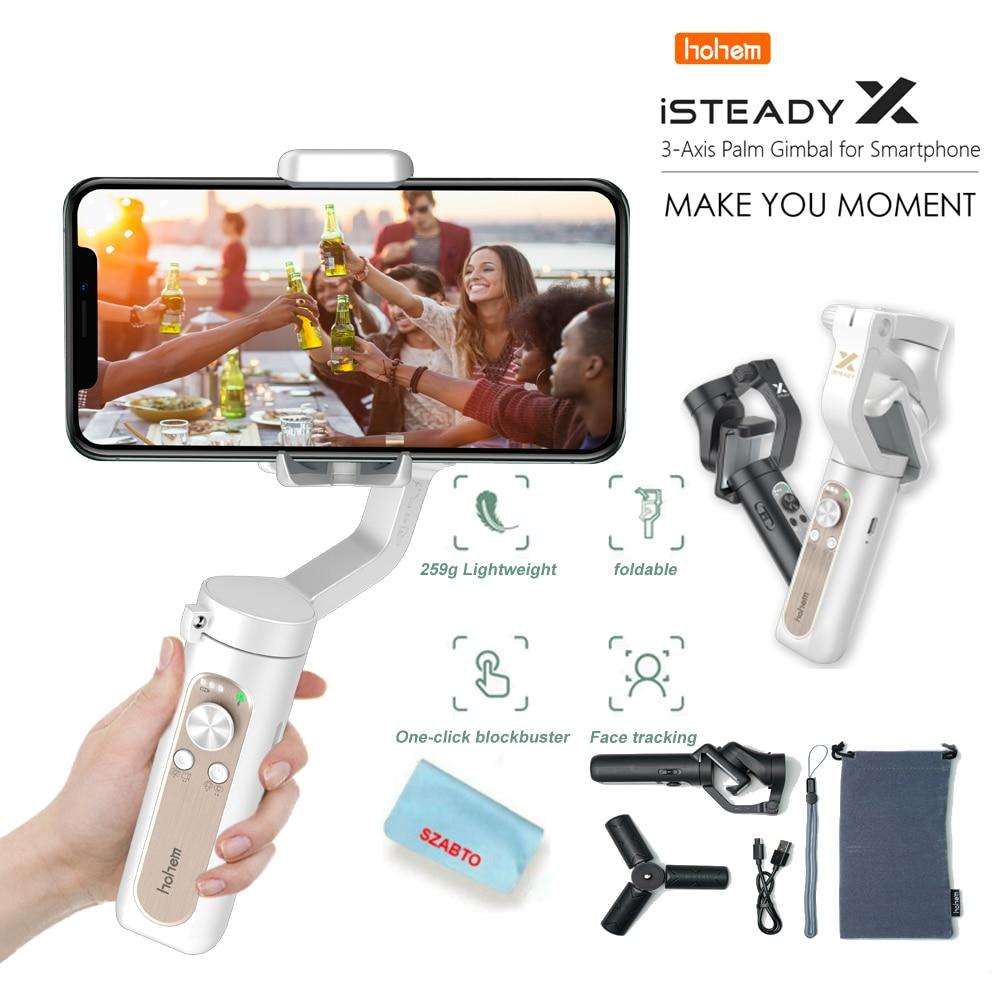 Hohem Isteady X гиростабилизатор с тремя осями, ручной гиростабилизатор для Iphone Voor Xiaomi смартфона Pk Smooth X Dji osmo