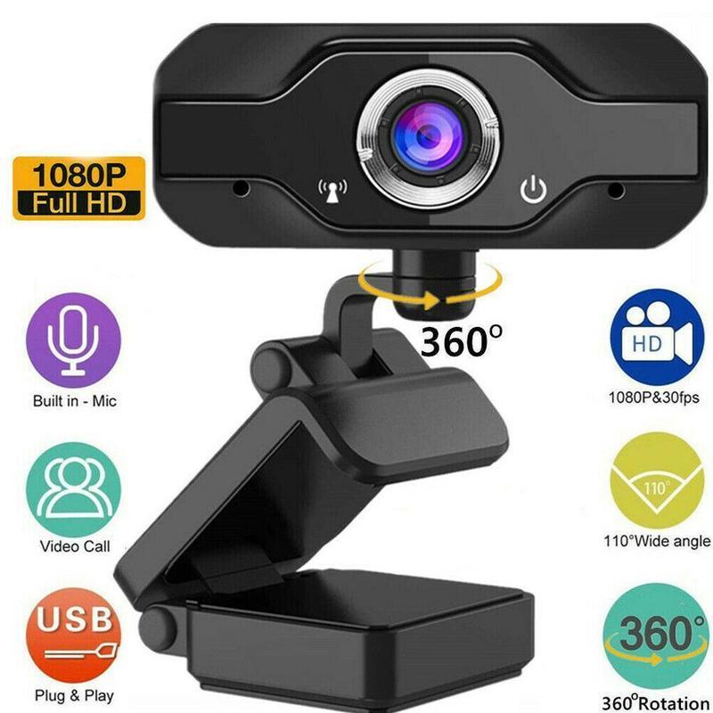 1080p Webcam 4K Web Camera with Microphone PC Camera 60fps Webcam Full HD 1080p Web Cam for Computer Web Cam for PC USB Camera недорого