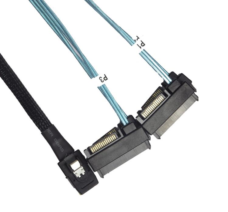 Nuevo Mini SAS línea SFF8087 a 29P 4SAS 8482 SATA 1 arrastre 4 con 15P SATA fuente de alimentación
