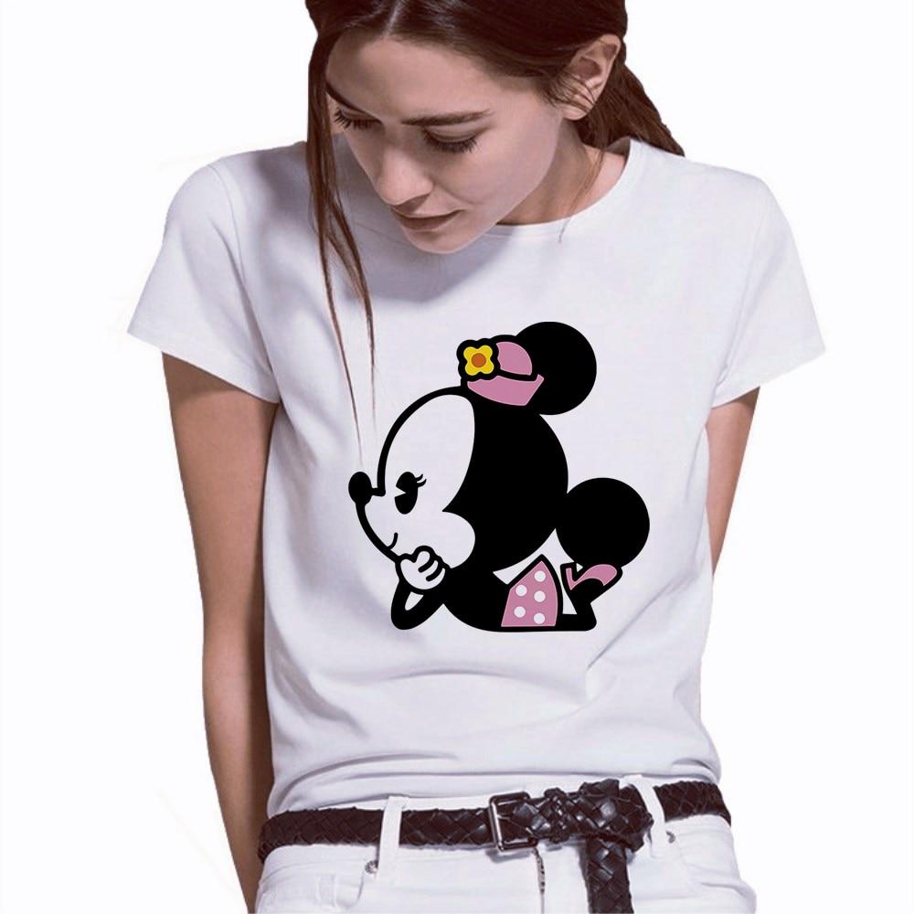 Camiseta con estampado de ratón de Minnie para Mujer, Camisetas estampadas para...