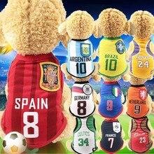 T-shirt pour petits chiens   Vêtements de basket-ball pour petits chiens, maillot dété Chihuahua pour chiots, vêtements Yorkshire Terrier