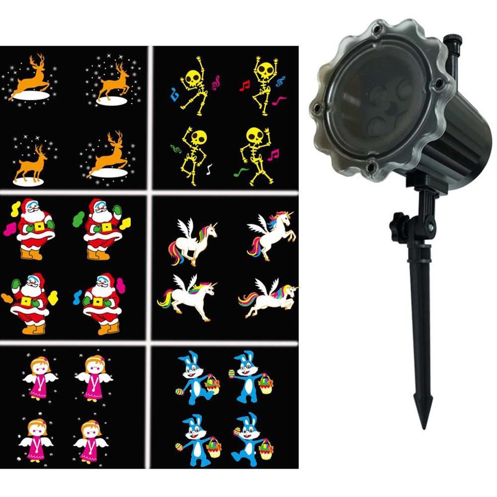 Luces LED a prueba de agua con proyector animado, Control remoto inalámbrico, para películas, espectáculos de Navidad, fiestas, Halloween, Año Nuevo