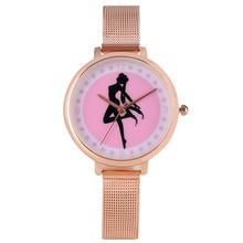 Hot Japanese Anime Sailor Moon Element Design Women Bangle Watch Steel/Leather Quartz Wrist Watches