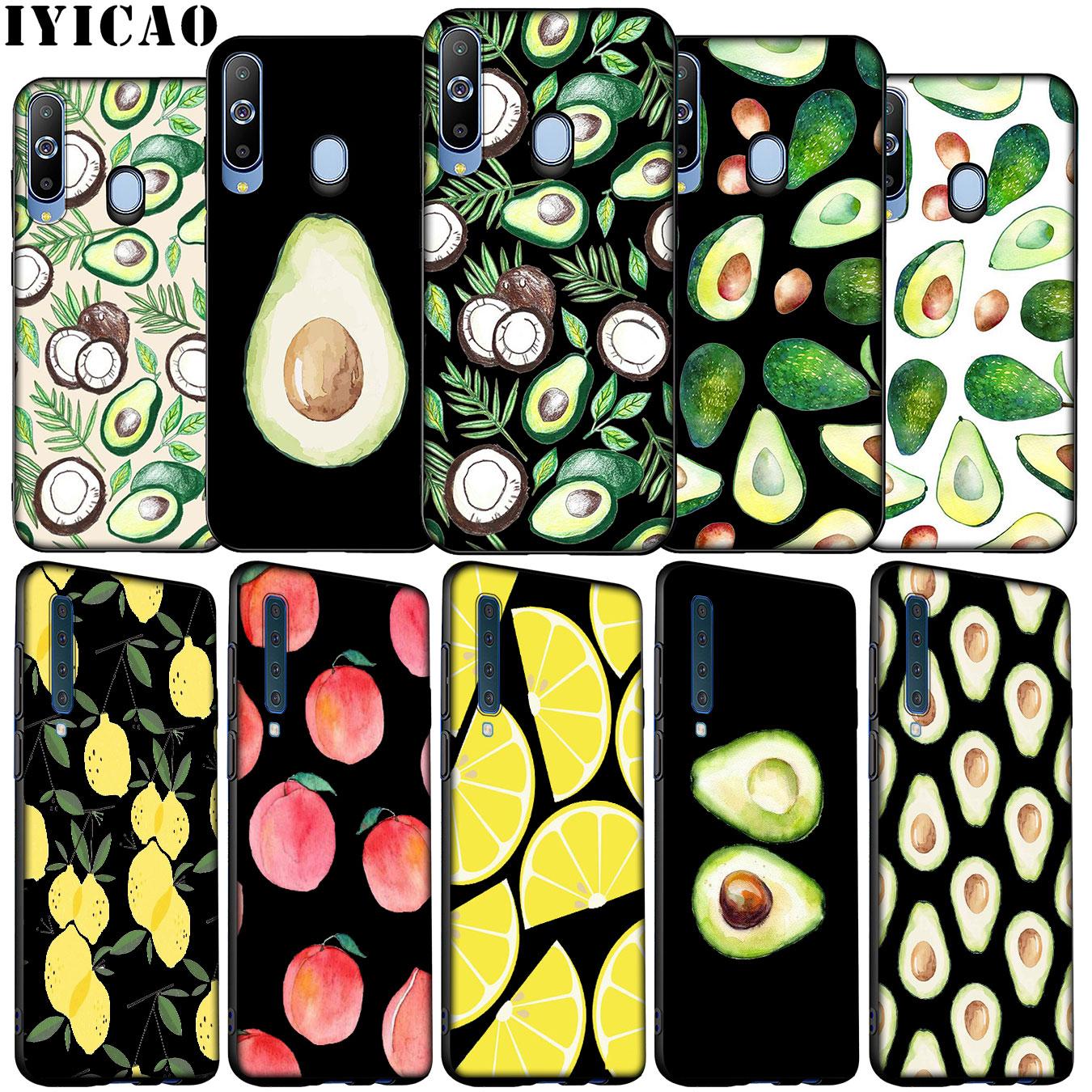 Aguacate frutas suave silicona caso para Samsung Galaxy A70 A50 A60 A40 A30 A20 A10 M10 M20 M30 M40 A20E cubierta