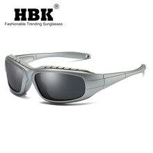 HBK Brand Design Sports Sunglasses Polarized Men Ultralight Military Sun glasses Frame For Women Gog