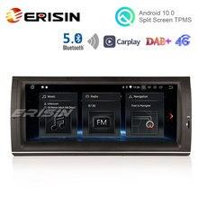 "Erisin 5153 10.25 ""Autoradio Android 10 CarPlay GPS DAB RDS Bluetooth 5.0 OBD TPMS WiFi 4G DVB-T2 SWC pour BMW X5 E53 5er E39 M5"