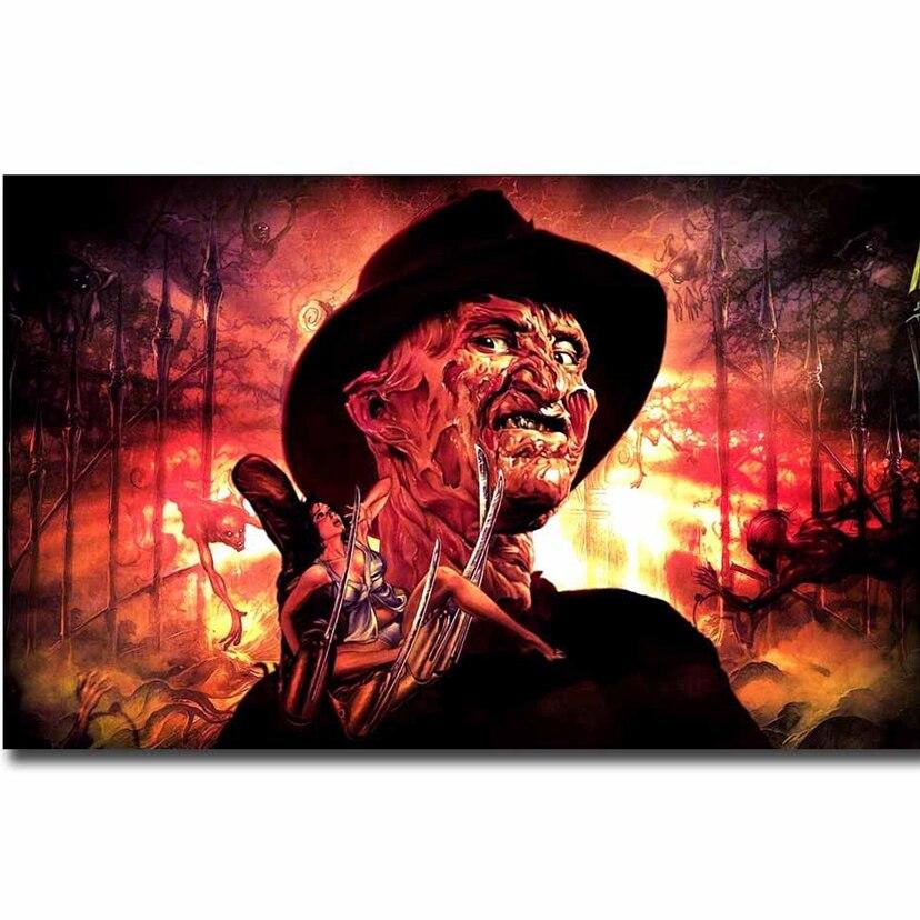 Pintura diamante do Ponto da Cruz de Horror Filme Nightmare on Elm Street Freddy Krueger WG1530 diamante bordado decoração Do Dia Das Bruxas