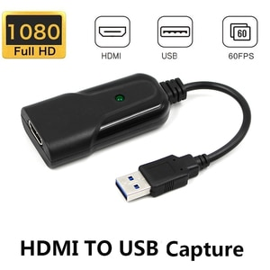 Mini Video Capture Card USB 2.0 to HDMI Video Grabber Record Box for PS4 Game DVD Camcorder HD Camera Live Streaming New