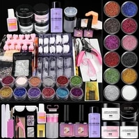 42 in 1 nail acrylic powder and liquid monomer set diy nail art tools manicure tool set for professionals beginners shipping