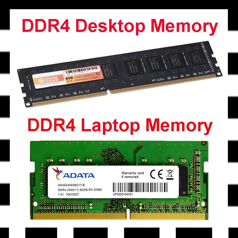 16G DDR4 ذاكرة كمبيوتر محمول جديد 4G 2666MHz ذاكرة لأجهزة الكمبيوتر المحمول RAM 8G 2400MHz ذاكرة عشوائيّة للحاسوب المكتبي وحدات قطع غيار للكمبيوتر 2 سنة ال...