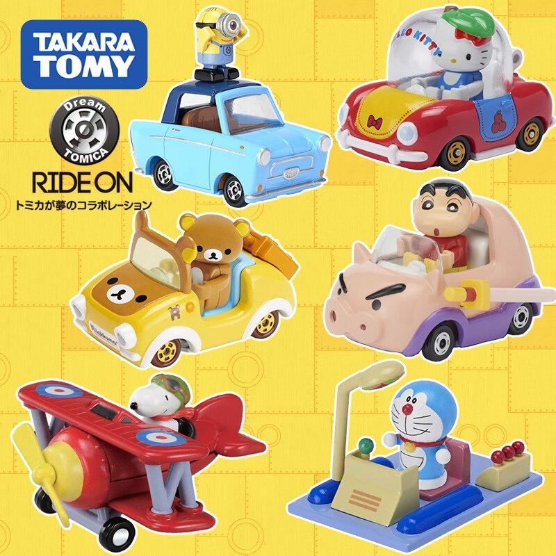Takara Tomy Tomica montar en serie Rilakkuma CRAYON SHINCHAN Metal Diecast vehículo coches de juguete