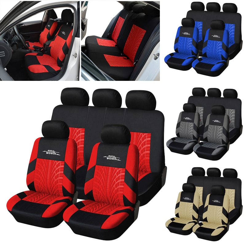 AUTOYOUTH Car Seat Covers Full Set Universal Fit Seat Protectors Fashion Car...