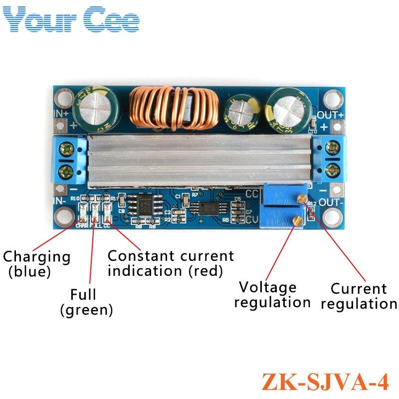 Módulo reductor automático ajustable voltaje constante corriente constante alta potencia Step Up Step Down módulo de fuente de alimentación SS56
