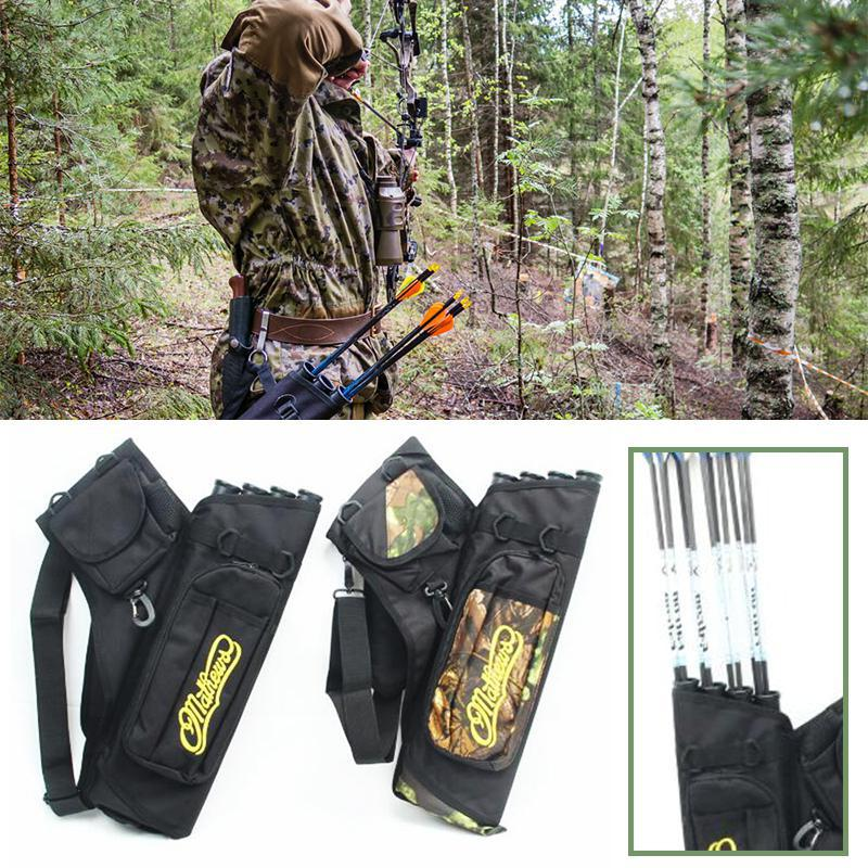 high quality cow leather arrow quiver bag archery shooting hunting accessories riding brown for bow arrows holder 52cm shoulder Archery Quiver Waterproof Camouflage Arrows Holder Bag 4 Tubes Arrow Quiver for Recurve Bow Hunting Shooting Archery Accessories