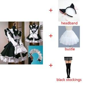 Women Maid Dress Anime Long Dress Black and White Apron Dress Lolita Dress Men Cafe Outfit Cosplay Costume Горничная Mucama
