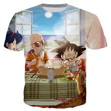 Plstar Cosmos Drop Verzending 2020 Zomer Mode T-shirt Anime Dragon Ball Z Kind Goku En Master Roshi 3d Print Casual t-shirt