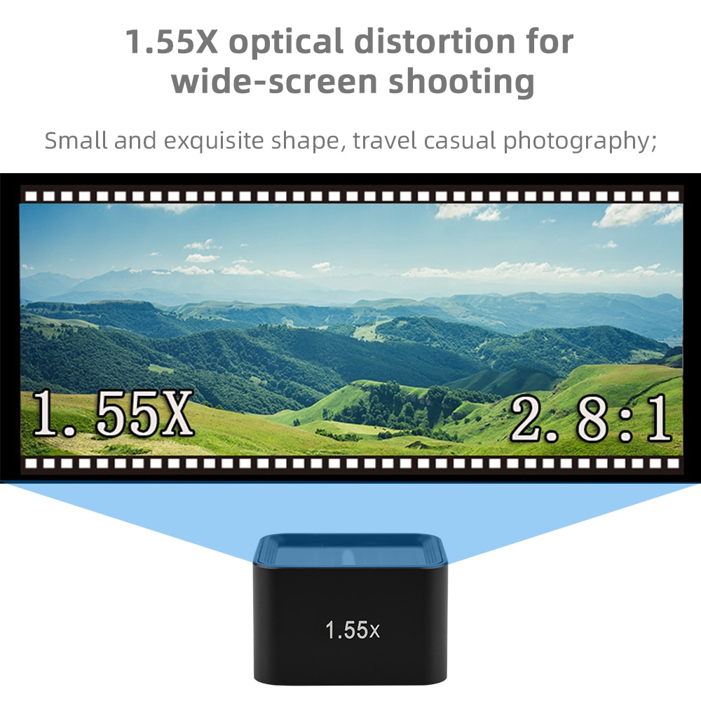 For Gopro Hero 9 Black 1.55X Wide Lens Wide-angle Anamorphic Filter Video Widescree for Gopro 9 Action Camera Accessories enlarge