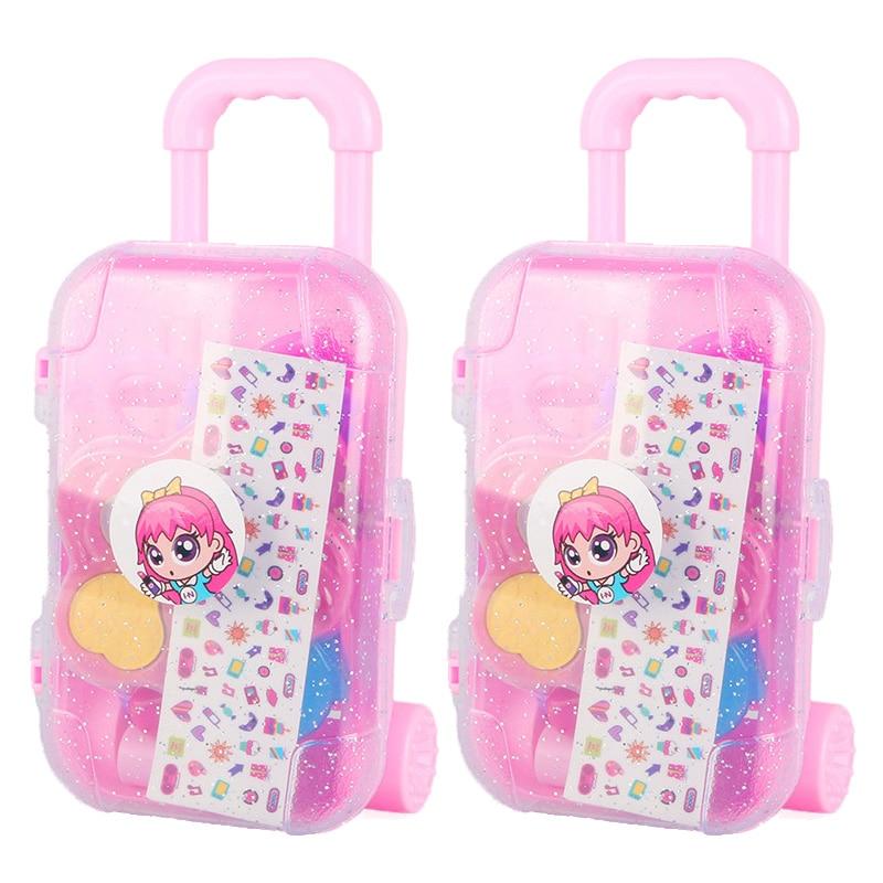 Cosméticos de simulación para niños, conjunto de cubierta de carrito maquillaje de juguetes, esmalte de uñas para niñas soluble en agua, no tóxico, juguete para jugar a las casitas, 2 piezas