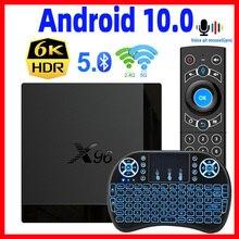 X96 Mate caja de la TV Android 10 del X96 soporte Max 2,4G y 5G Dual wifi Google asistente de voz 4K 60fps Google Playstore Youtube X96mate