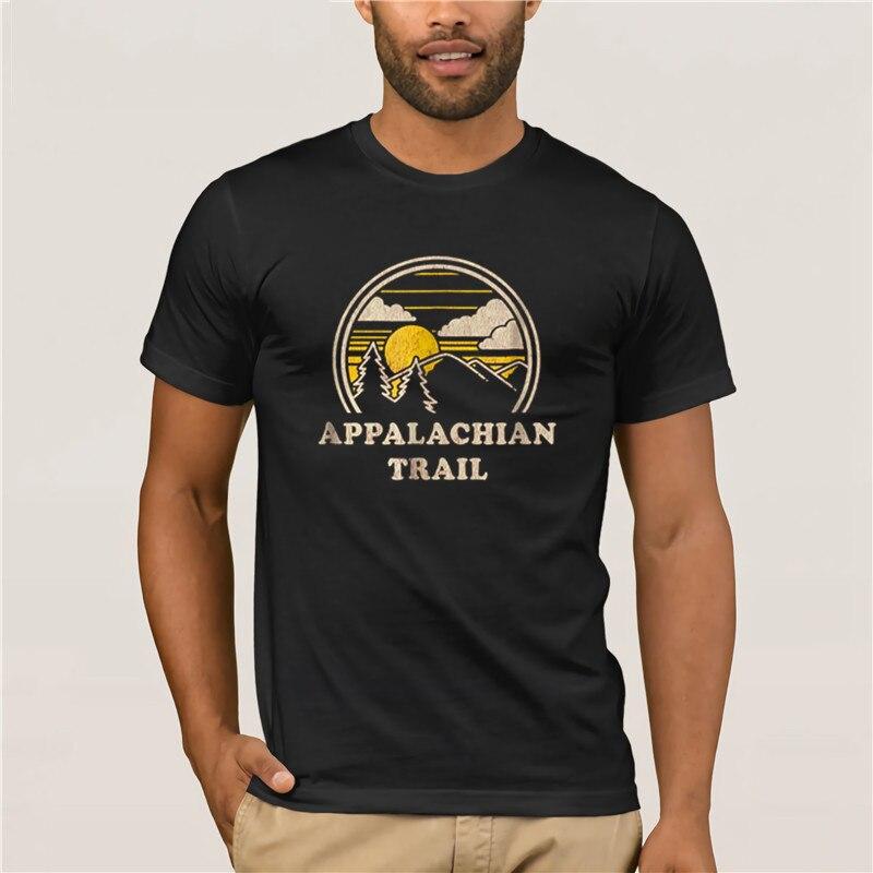 Camiseta 100% de algodón 2020 para hombre Appalachian Trail Vintage senderismo montaña