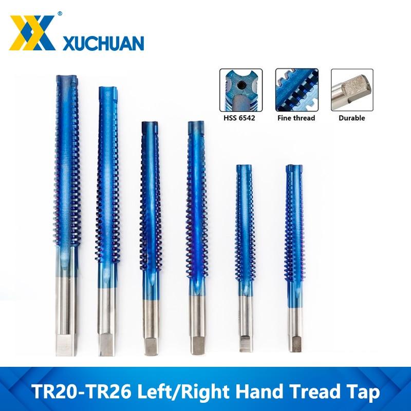 Taraud gauche/droite Nano bleu revêtement filetage taraud outil TR20-TR26 filetage Machine tarauds perceuse taraud trapézoïdal