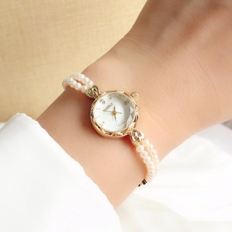 Japan Shiroko Natural Freshwater Pearl Ladies Watch Ladies Bracelet INS Fashion Ladies Watch enlarge