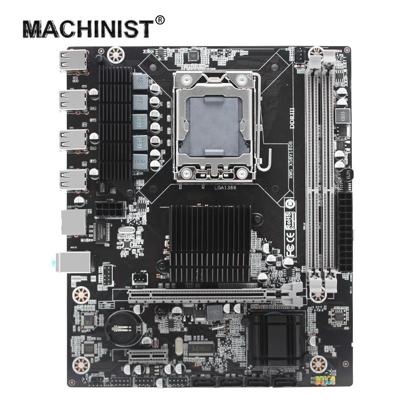 ماشينيست X58 اللوحة LGA 1366 المقبس دعم DDR3 RAM معالج إنتل زيون USB2.0 AMD RX سلسلة مايكرو ATX X58V1608 لوحة