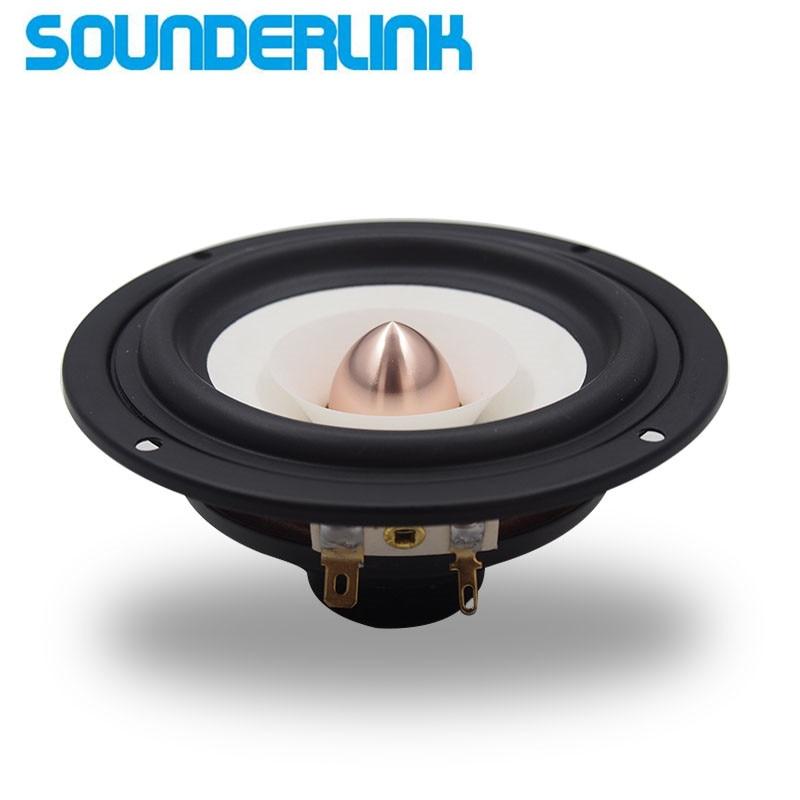 1PC Sounderlink Audio Labs Top end 4 inch Full Range monitor Speaker tweeter woofer Aluminum Bullet 2 Layer HiFi Diy